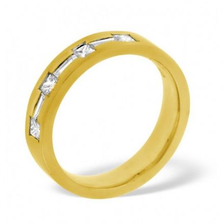 18K Gold 0.49ct H/si Diamond Wedding Band, WB22-49HSY